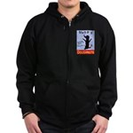 Black Dog Doughnuts Zip Hoodie (dark)