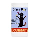 Black Dog Doughnuts Beach Towel