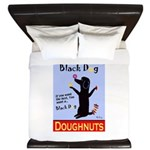 Black Dog Doughnuts King Duvet