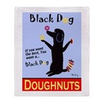 Black Dog Doughnuts Throw Blanket