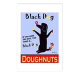 Black Dog Doughnuts Postcards (Package of 8)