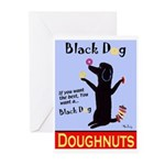 Black Dog Doughnuts Greeting Cards (Pk of 20)