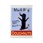 Black Dog Doughnuts Rectangle Magnet