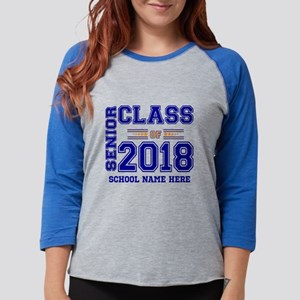 Personalized Senior Class of 2018 Blue and Orang L