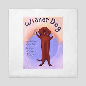 Wiener Dog Queen Duvet