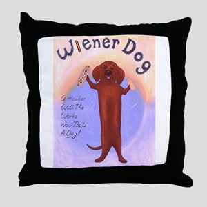 Wiener Dog Throw Pillow