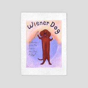 Wiener Dog 5'x7'Area Rug