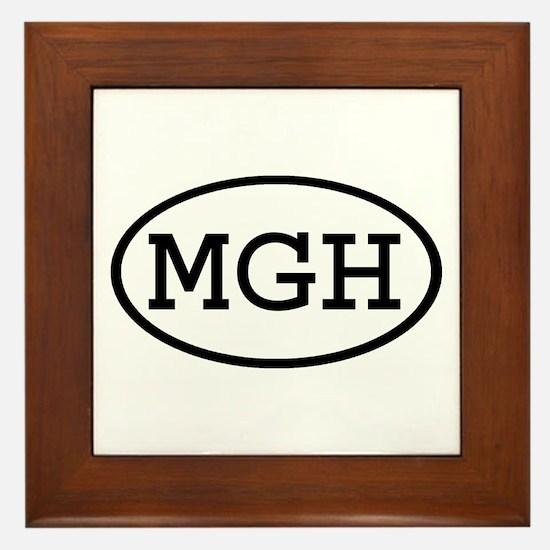 MGH Oval Framed Tile