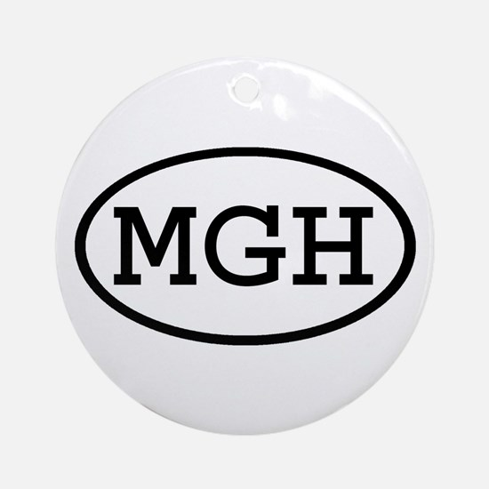 MGH Oval Ornament (Round)