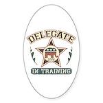 Delegate in Training Oval Sticker