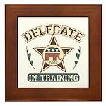 Delegate in Training Framed Tile
