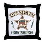 Delegate in Training Throw Pillow