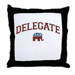Republican Delegate Throw Pillow