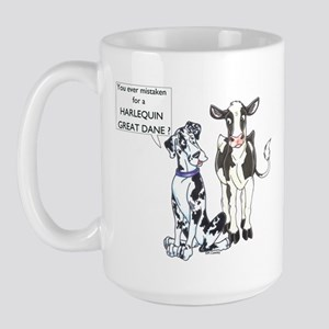 N Great Dane & Cow Large Mug