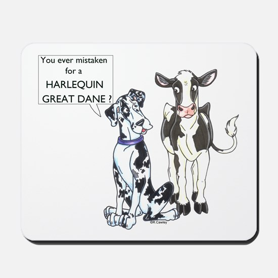 N Great Dane & Cow Mousepad