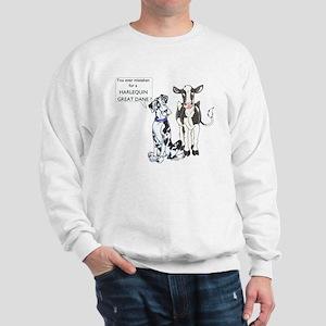 N Great Dane & Cow Sweatshirt