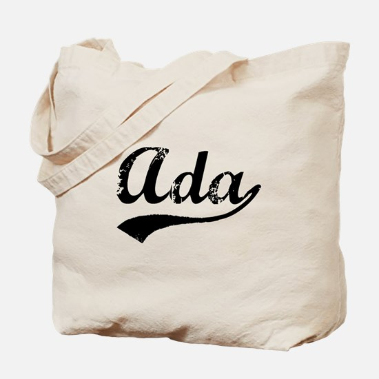 Vintage Ada (Black) Tote Bag