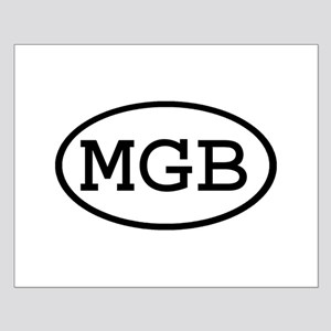 MGB Oval Small Poster