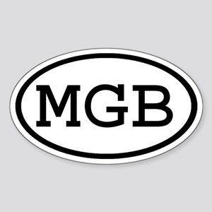 MGB Oval Oval Sticker