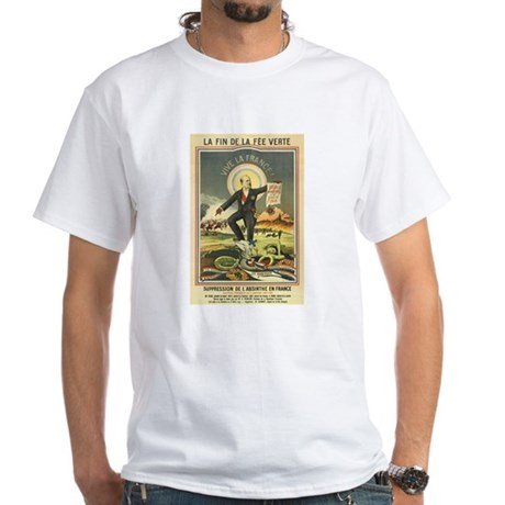 French Absinthe Prohibition White T-Shirt