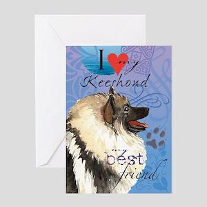 Keeshond Greeting Card
