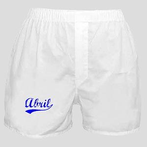 Vintage Abril (Blue) Boxer Shorts