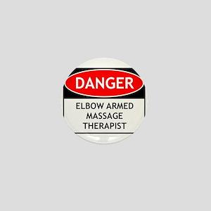 Elbow Armed Massage Therapist Mini Button