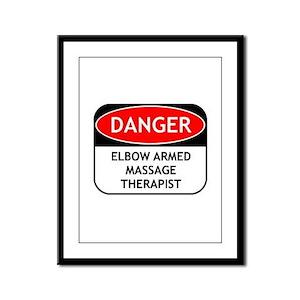 Elbow Armed Massage Therapist Framed Panel Print