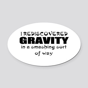 funny accident Oval Car Magnet
