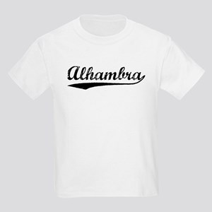 Vintage Alhambra (Black) Kids Light T-Shirt