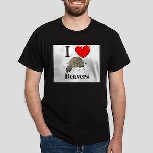 I Love Beavers Dark T-Shirt