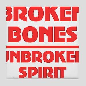 Broken bones Tile Coaster