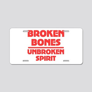 Broken bones Aluminum License Plate