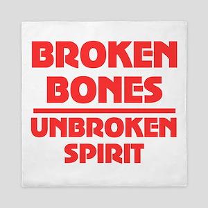 Broken bones Queen Duvet