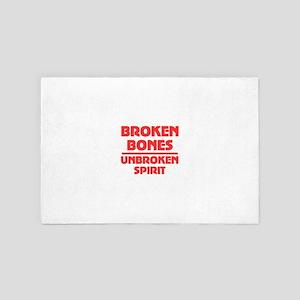 Broken bones 4' x 6' Rug