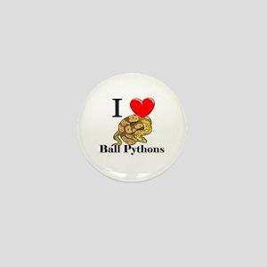 I Love Ball Pythons Mini Button
