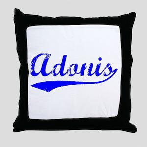 Vintage Adonis (Blue) Throw Pillow