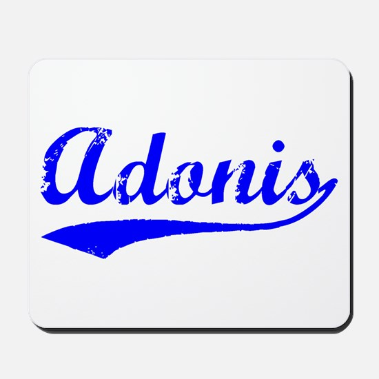 Vintage Adonis (Blue) Mousepad