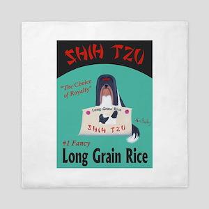 Shih Tzu Long Grain Rice Queen Duvet