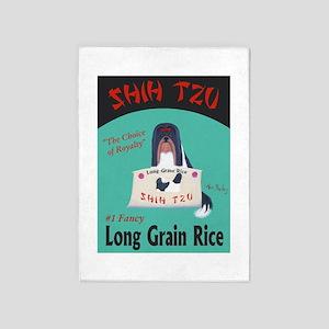 Shih Tzu Long Grain Rice 5'x7'Area Rug