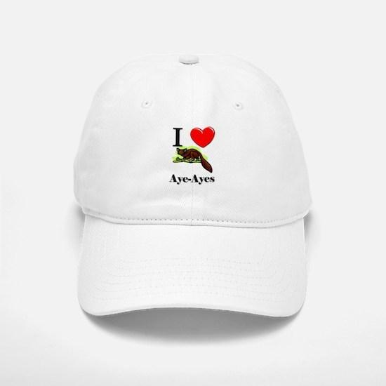 I Love Aye-Ayes Baseball Baseball Cap