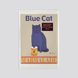 Blue Cat Marmalade Rectangle Magnet