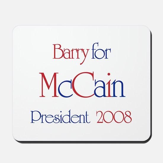 Barry for McCain 2008 Mousepad