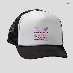 Cute 7th Birthday Kids Trucker hat