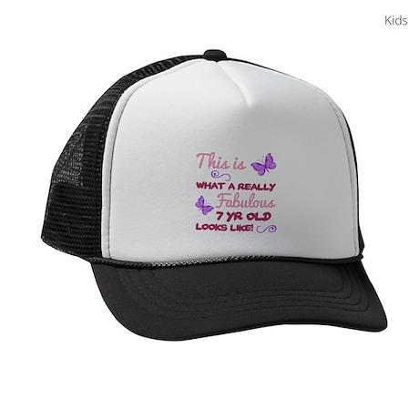Cute 7th Birthday Kids Trucker hat by Admin CP1519247 776cd0bbb8d