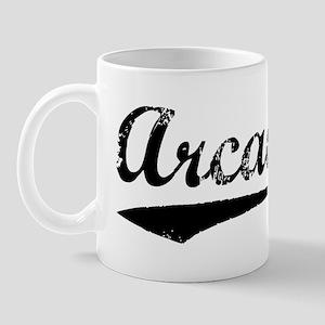 Vintage Arcadia (Black) Mug