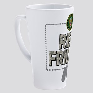 army red friday 17 oz Latte Mug