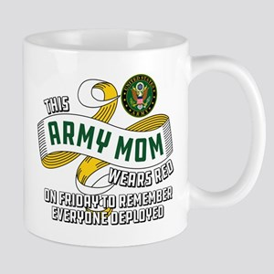 Army Mom Wears Red Friday 11 oz Ceramic Mug