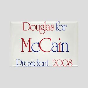 Douglas for McCain 2008 Rectangle Magnet