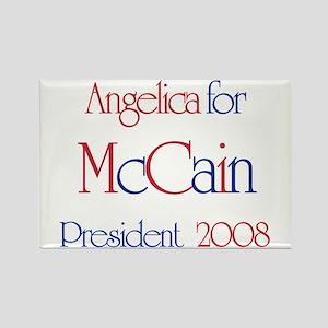 McCain for President - Angeli Rectangle Magnet